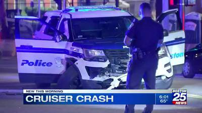 Officer hospitalized, driver identified after crashing into Boston Police cruiser