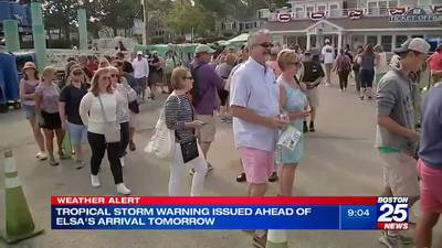 Vacationers on the Cape prepare for Tropical Storm Elsa