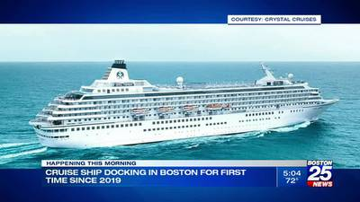 Cruise ship docking in Boston for first time since 2019