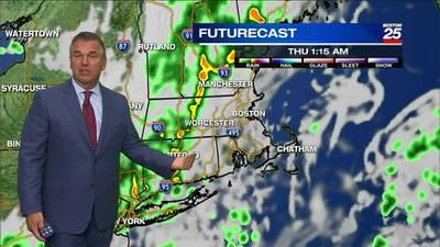 Boston 25 Tuesday late night weather forecast - Boston 25 News