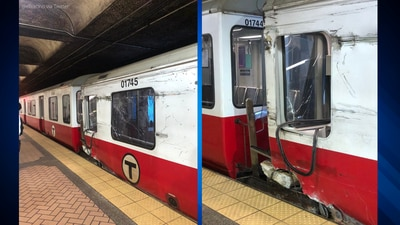 Red Line train 'moving at slow rate of speed' derails at Broadway