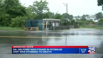 DA: Milford murder victim lived inside storage unit where he was found