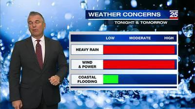 Boston 25 Tuesday late night weather forecast