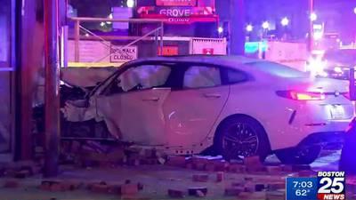 Driver slams into South Boston pizza shop