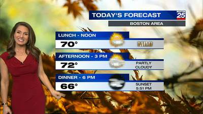 Boston 25 Friday afternoon weather forecast