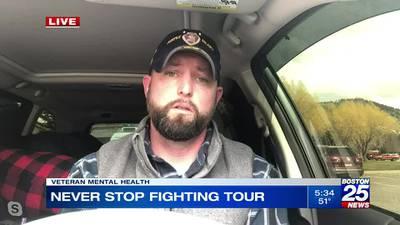 Combat veteran Kurt Power on 'Never Stop Fighting' tour to help veterans suffering from PTSD