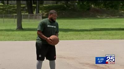 Brockton native's wild basketball moves go viral