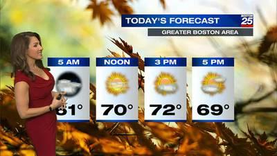 Boston 25 Friday morning weather forecast