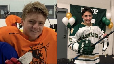 High school hockey teams unite to support injured players