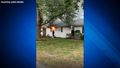 Good Samaritans save woman from fire then a fellow rescuer after heart attack