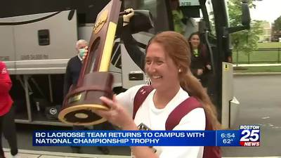 BC returns home with national championship trophy