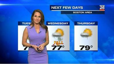 Boston 25 Tuesday afternoon weather forecast