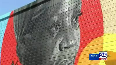 Roxbury man crafts mural dedicated to his family's journey
