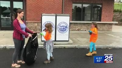 8-Year-Old Needham twins organize cleanup event