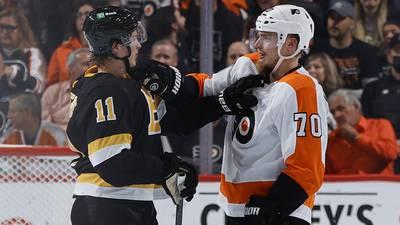 Cam Atkinson scores twice, Flyers beat Bruins 6-3