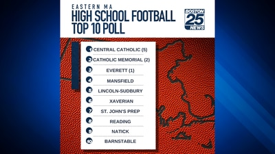 Central Catholic ekes out CM for top spot in Boston 25 High School Football Top 10 Poll