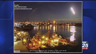 Dash cam captures fireball spotted across New England