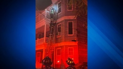 Early morning Dorchester fire forces four adults, two kids out of their home