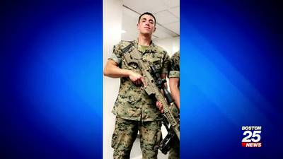 Marine stabbed while trying to help a woman being attacked