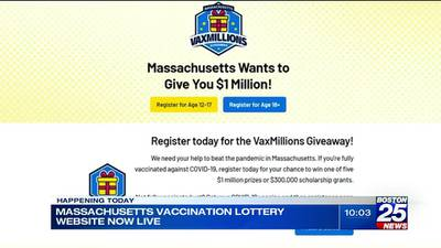 State's $1 million giveaway for vaccinated residents begins