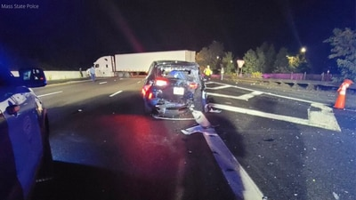 State Trooper seriously injured after tractor trailer strikes his cruiser