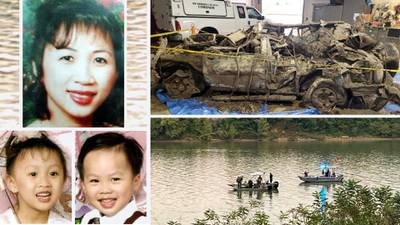 Human remains found in SUV of missing Ohio mom, 2 children pulled from river after 20 years