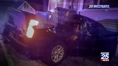 25 Investigates: Quincy PD investigating State Trooper who hit house while driving on 3 wheels