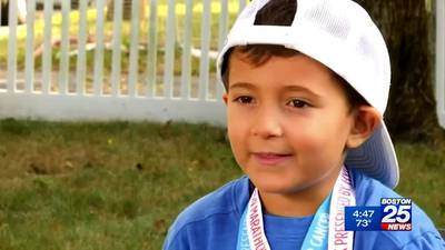 5-year-old boy in remission from cancer, thanks to the Jimmy Fund