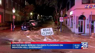 Beacon Hill street damaged after early-morning water main break